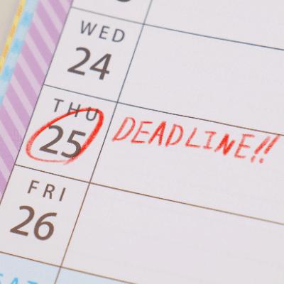 Deadline du paiement d'une facture